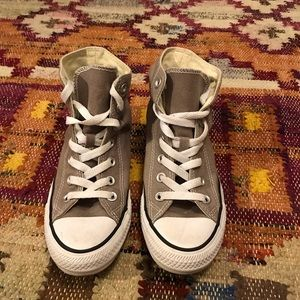 Converse Shoes - Grey hi top converse